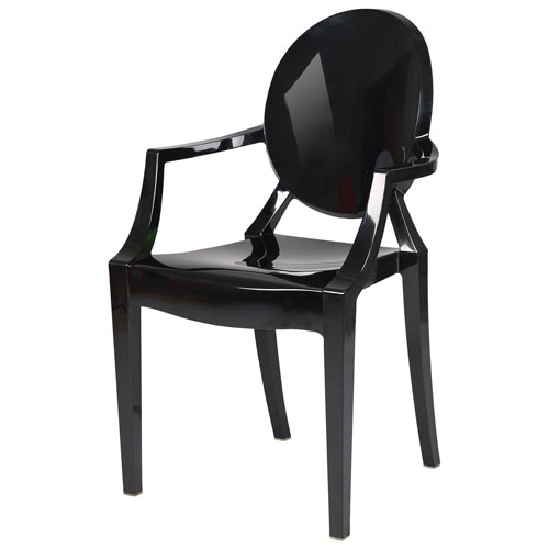 Beau Efron Modern Ghost Chair   Set Of 2   Solid Black : Dining Chairs   Best  Buy Canada