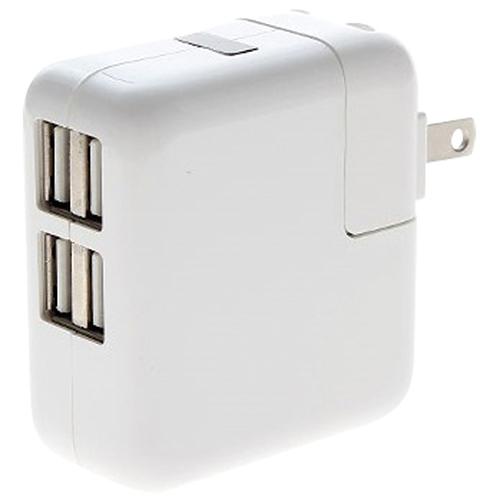 Chargeur c.a. à 4 ports USB de Mmnox (WALL4P) - Blanc