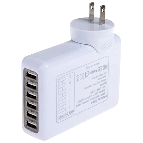 Mmnox 6-USB Wall Charger (WALL6P) - White