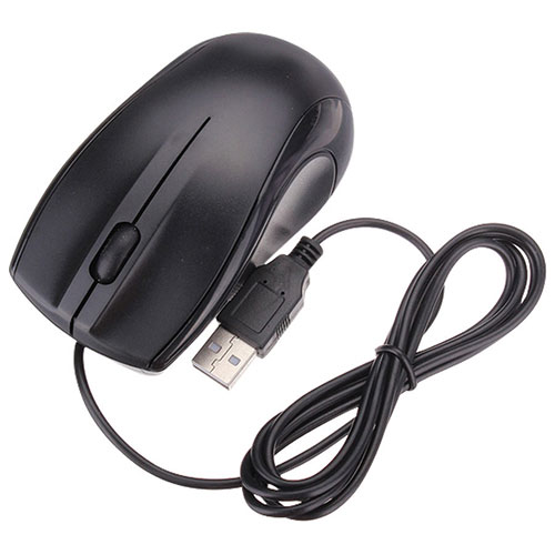 Mmnox Wired Optical Mouse (MSE01) - Black