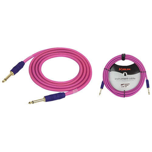Kirlin Cable Premium Plus Series 6.1m (20 ft.) Instrument Cable (IM201WSXGPUF20) - Frost Pink