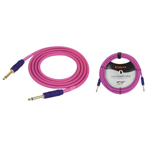 Câble Premium Plus de 3,05 m (10 pi) de Kirlin Cable pour instrument (IM201WSXGPUF10) - Rose givré