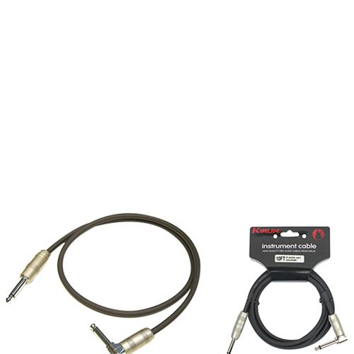 Câble de 3,05 m (10 pi) de Kirlin Cable pour instrument (IP202PR10) - Noir