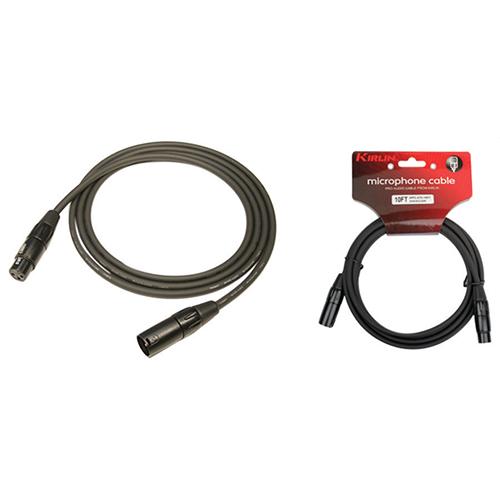 Câble de 0,92 m (3 pi) série P de Kirlin pour microphone (MPC2703) - Noir
