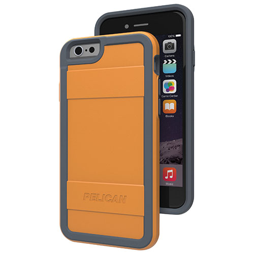 Pelican iPhone 6 Fitted Hard Shell - Orange/ Grey