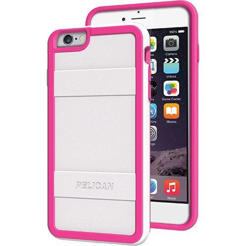Pelican iPhone 6 Plus Fitted Hard Shell - White/ Pink