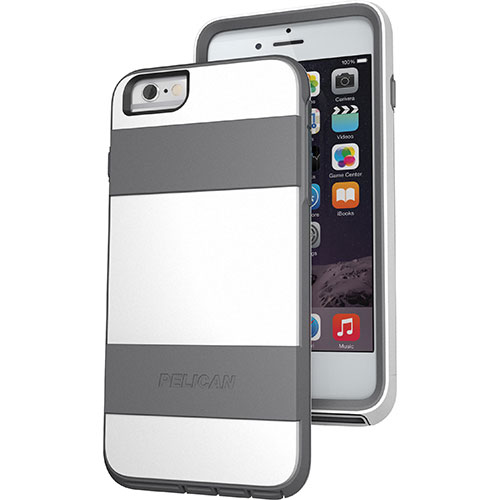 Pelican ProGear Voyager iPhone 6 Plus Fitted Hard Shell - White/ Grey