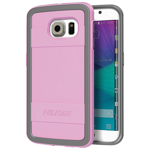 Pelican Galaxy S6 Edge Fitted Hard Shell - Pink/ Grey