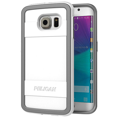 Pelican Galaxy S6 Edge Fitted Hard Shell - White/ Grey