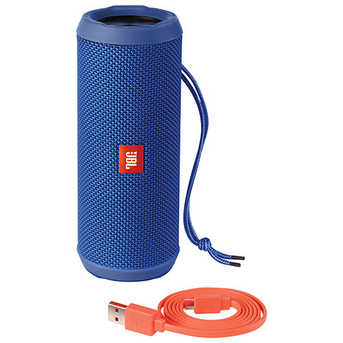 Haut-parleur sans fil Bluetooth étanche Flip 3 de JBL - Bleu