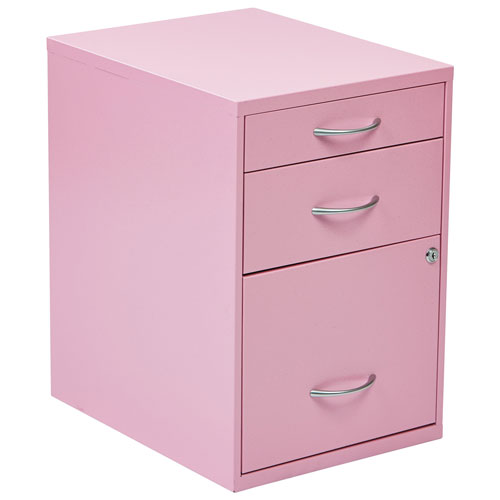 Charmant OSP Designs Modern 3 Drawer File Cabinet   Pink
