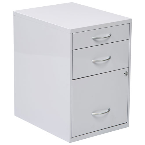 OSP Designs Modern 3-Drawer File Cabinet - White : Filing Cabinets ...