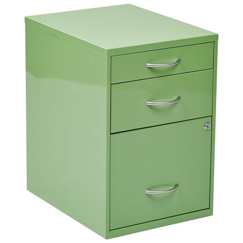 Osp Designs Modern 3 Drawer File Cabinet Green Filing
