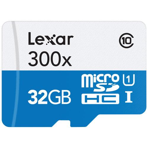 Carte Mmoire MicroSDHC 300X Classe 10 De 32 Go Lexar Cartes MicroSD Et MicroSDXC