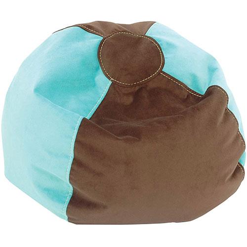 Comfy Kids - Kids Bean Bag - Dazzle Blue/ Espresso