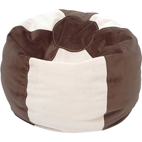 Comfy Kids - Teen Bean Bag - Espresso/ Ivory
