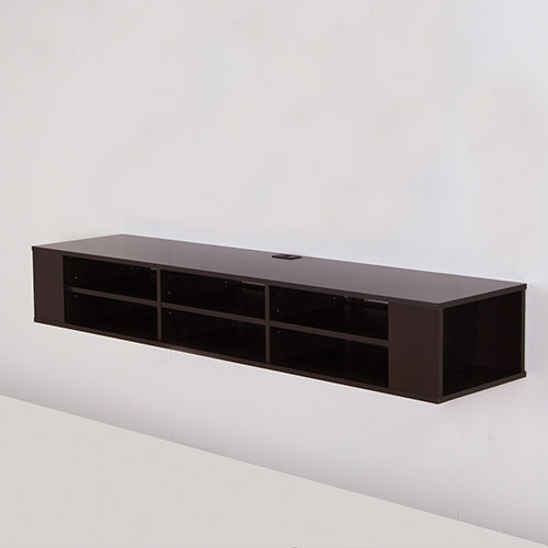 "South Shore City Life 66"" Wall Mounted Media Console - Chocolate"