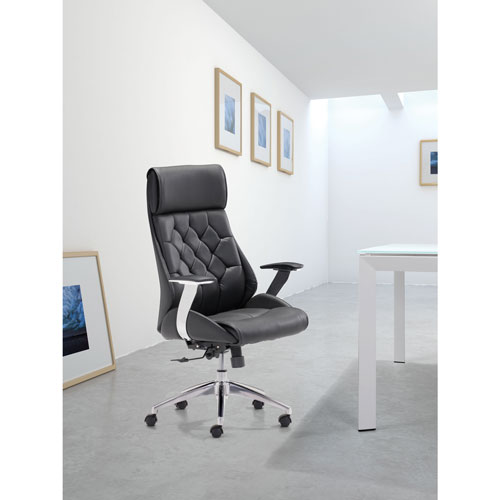 Cimax Leatherette Manager Executive Chair Black Office Chairs