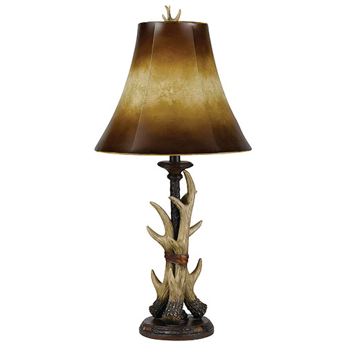 Ceto Table Lamp - Brown/Dark Bronze