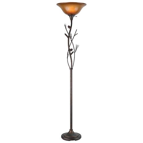 Lampadaire Calypso - Ambre-bronze huilé