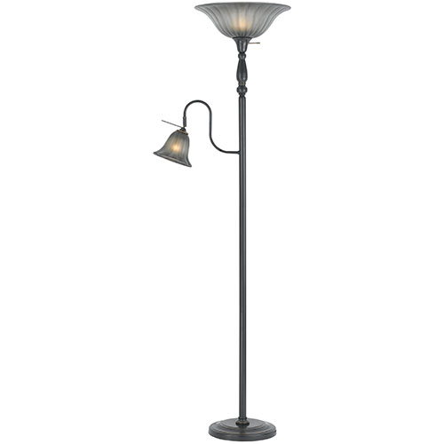 Lampos Floor Lamp - Frosted/Oil Rubbed Bronze