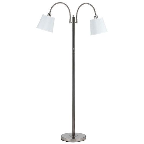 Kypris Floor Lamp - White/Polished Nickel
