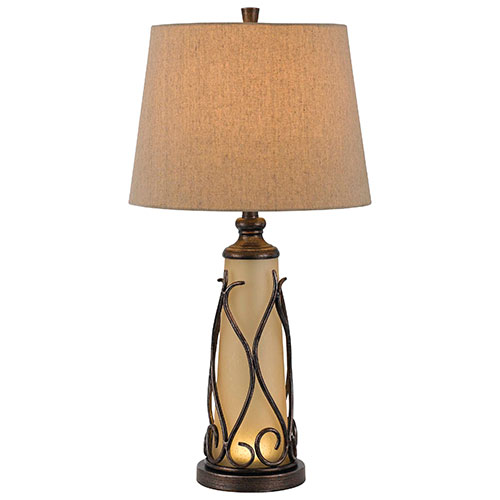 Grifford Table Lamp - Brown/Iron