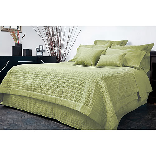 Ensemble de housse de douillette en microfibre collection Grid de Gouchee Design - Double - Lime