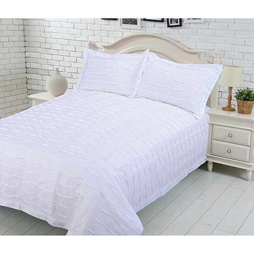 Gouchee Design L'Echelle Collection 200 Thread Count Cotton Duvet Cover Set - Queen - White