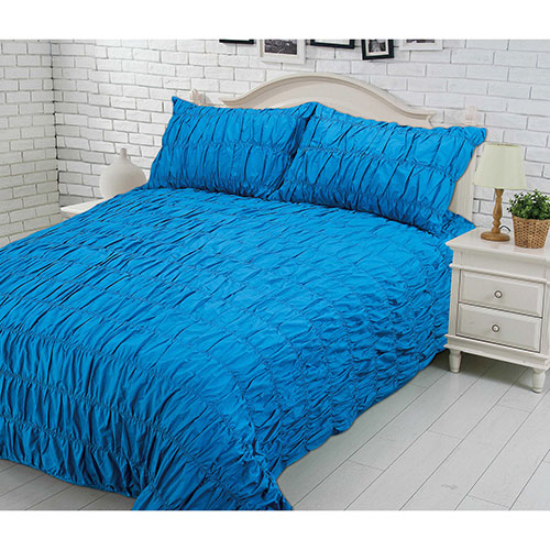 Gouchee Design Louis XVI Collection 200 Thread Count Cotton Duvet Cover Set - Double/Full - Teal