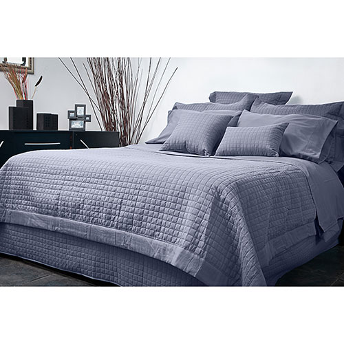 Gouchee Design Grid Collection Microfiber Duvet Cover Set - Queen - Silver