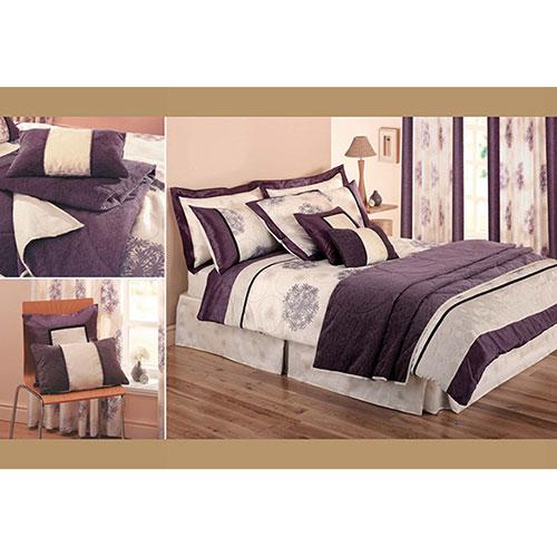 Gouchee Design Lavender Dream Collection Cotton/Poly Comforter Set - Double/Full - Purple/Cream