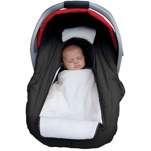Jolly Jumper Arctic Sneak-a-Peek Infant Car Seat Cover - Black : Car ...