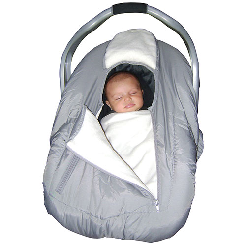 Jolly Jumper Arctic Sneak-a-Peek Infant Car Seat Cover - Grey : Car ...