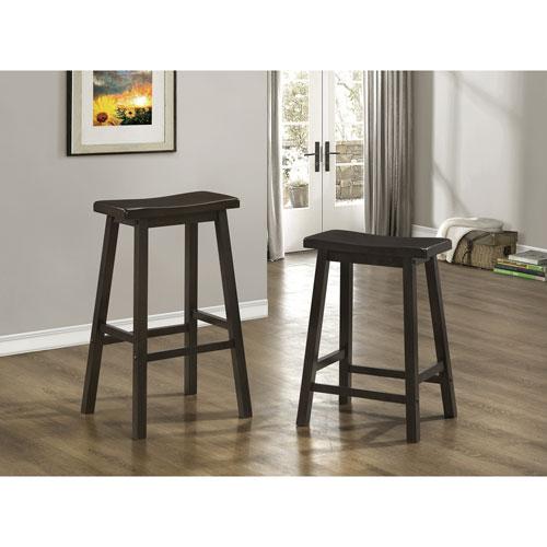 tabouret de bar hauteur de comptoir de style traditionnel ensemble de 2 cappuccino. Black Bedroom Furniture Sets. Home Design Ideas
