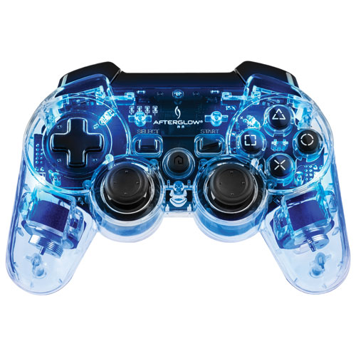 manette afterglow de pdp pour ps3 bleu playstation 3 manettes best buy canada. Black Bedroom Furniture Sets. Home Design Ideas