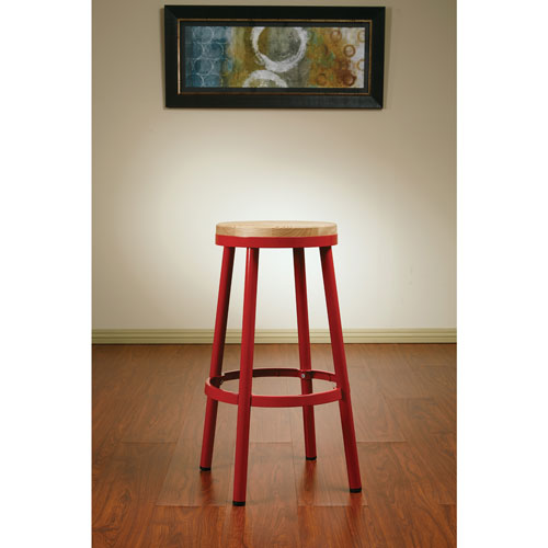 Tabouret de bar contemporain bristow rouge tabourets de bar best buy canada for Tabouret bar contemporain