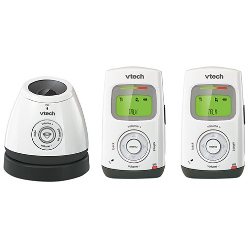 VTech Safe & Sound Digital Dual Audio Baby Monitor with DECT 6.0 (DM222-2) - White/ Black - 2 Parent Units