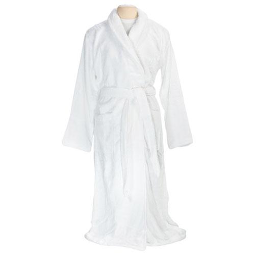 Peignoir en bambou et en coton LuxesportSPA - Moyen - Blanc