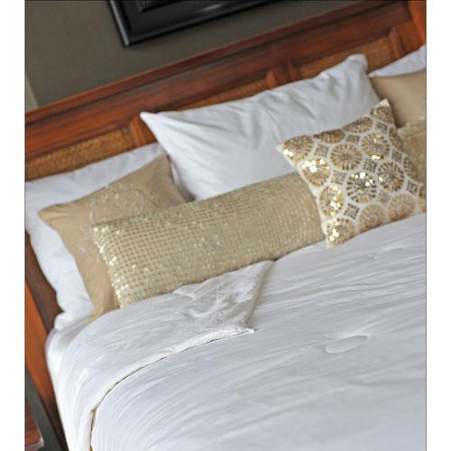 LuxeportZEN 200 Thread Count Allergy Free Light Silk Duvet - King - White