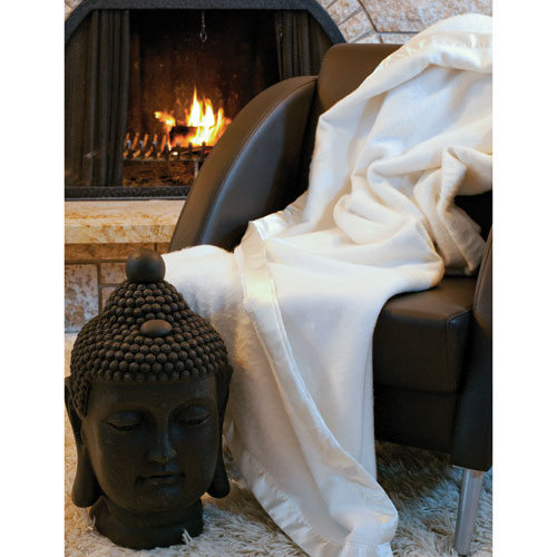 Luxeport Collection Bamboo Rayon Blanket - Queen - Ivory