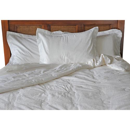 Luxeport 300 Thread Count Premium Light Silk Duvet - Queen - White