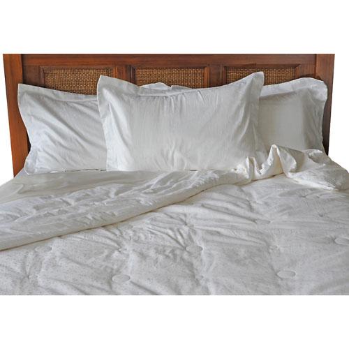Douillette en soie légère Premium à contexture de 300 de Luxeport - Très grand lit - Blanc