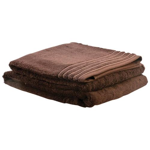 LuxeportSPA Bamboo Rayon/Cotton Bath Towel - Set of 2 - Chocolate Brown