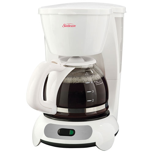 Best Coffee Maker Product ~ Sunbeam cup coffeemaker bvsbtf white coffee