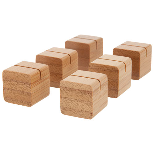 Cubes en bambou d'Insignia pour photos (NS-DCUBE06B-C) - Paquet de 6 - Brun