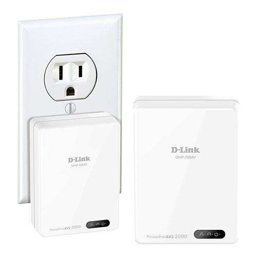 d link powerline av2 2000 gigabit starter kit dhp 701av range extenders powerline. Black Bedroom Furniture Sets. Home Design Ideas