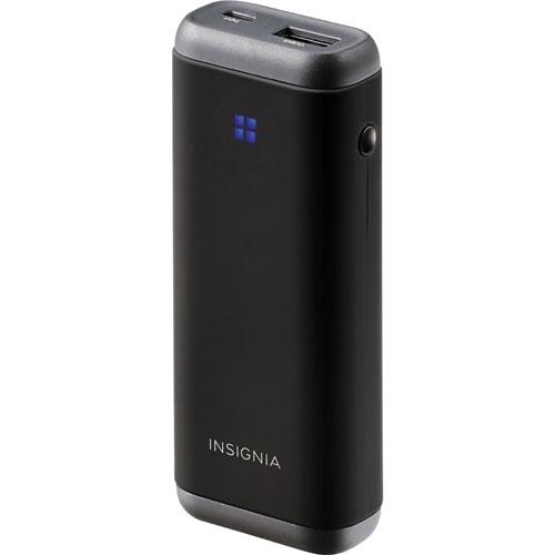Chargeur portatif de 5200 mAh d'Insignia - Noir