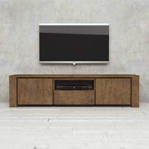 """Urban Woodcraft 71"""" TV Stand - Natural Wood (Dark)"""