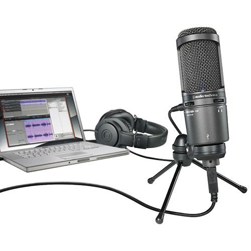 Audio-Technica USB Cardioid Condenser Microphone (at2020-usb-plus)